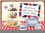 Retro Traditional Afternoon Tea Metal Steel Plaque Sign